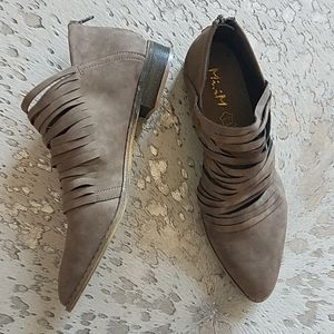 Mi.iM. Free Sole Shredded Leather Booties New